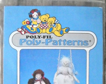 Poly-Patterns Samantha D-205 Doll Pattern by Poly-Fil Vintage 1990's, Doll Sewing Pattern Dress Up Doll with Clothing Pattern