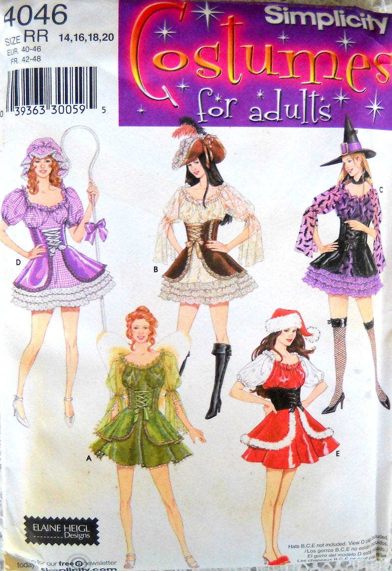 Simplicity 4046 Costumes for Adults Pattern Size 14 16 18 20 image 0