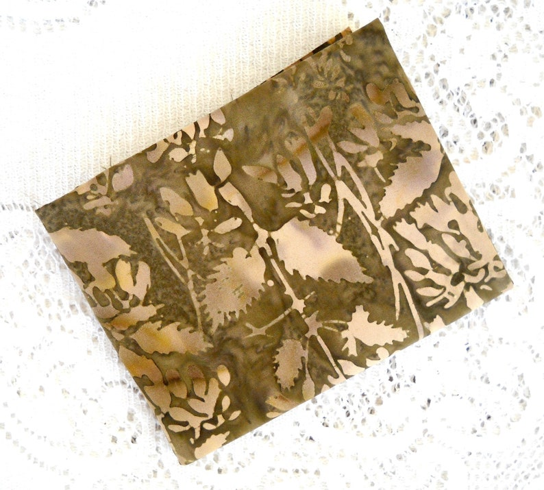 Brown Leaf Foliage Batik Quilt Fabric 100 Percent Cotton by image 0
