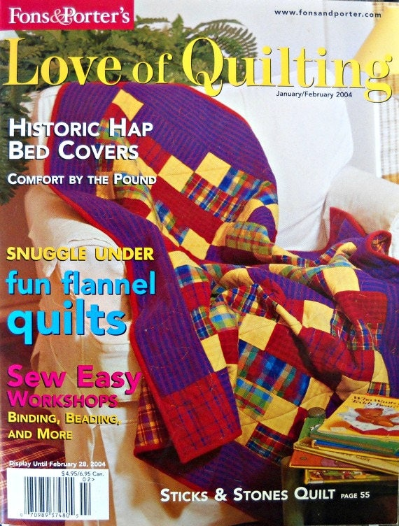 Fons And Porters Love Of Quilting Magazine January Etsy