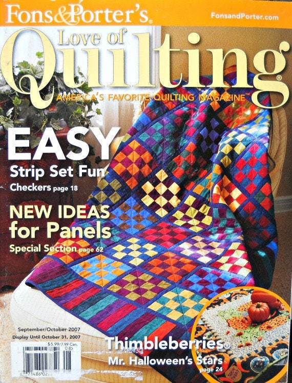 Fons And Porters Love Of Quilting Magazine September Etsy