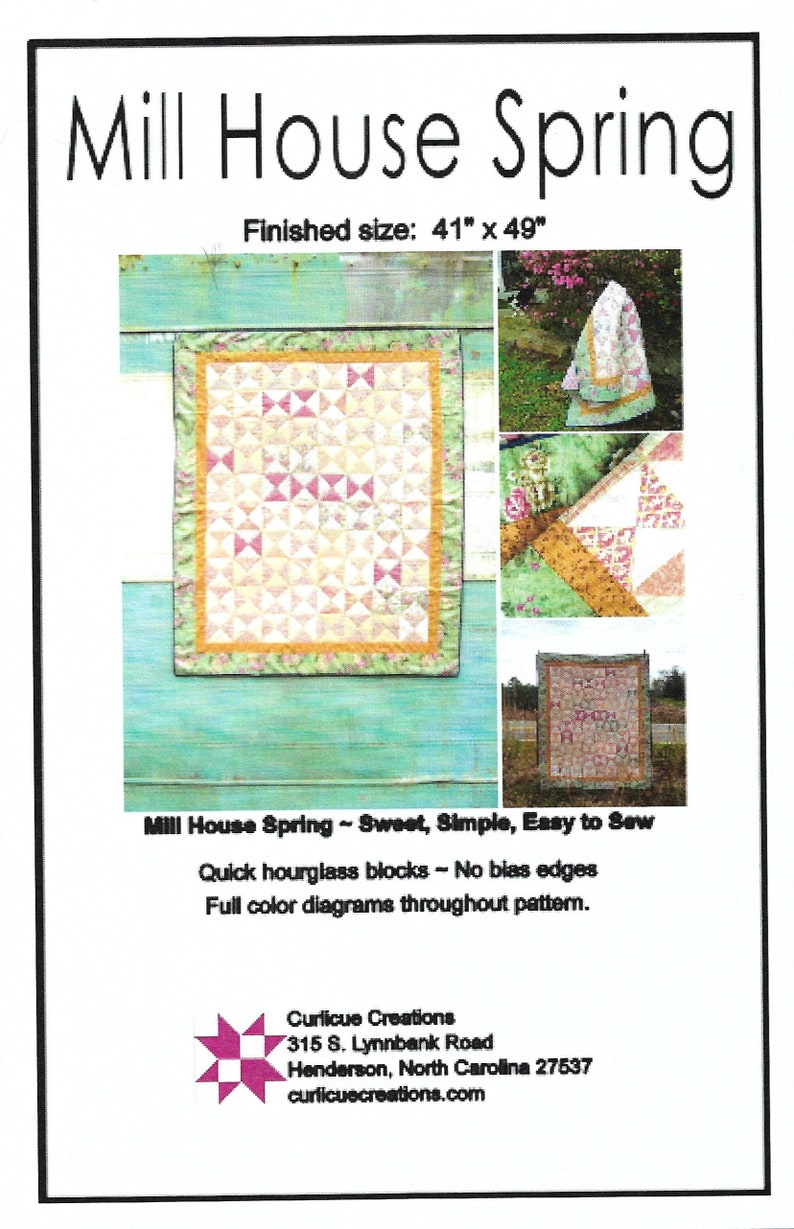 Mill House Spring Quilt Pattern by Curlicue Creations Crib image 0