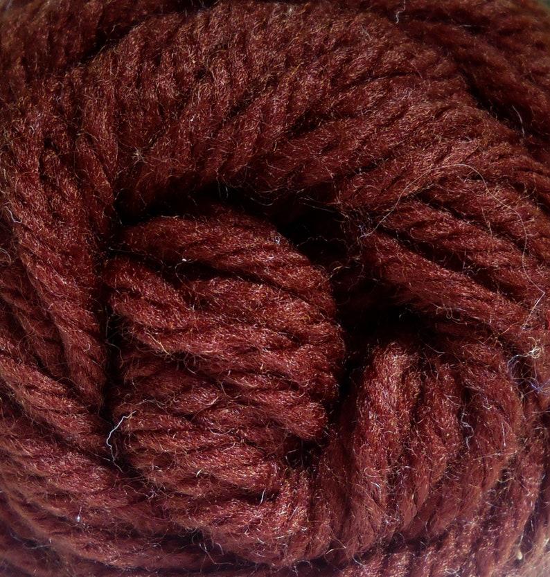 Roses Creslan Acrylic Yarn Color Dark Brown 9 Acrylic Yarn 3 image 0