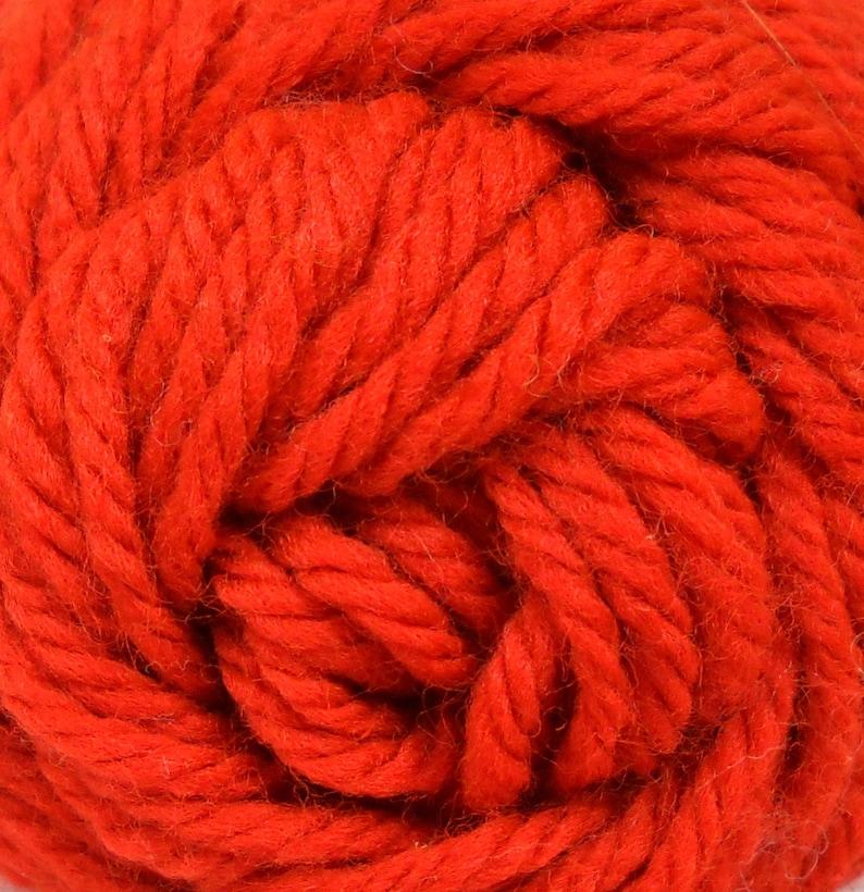 Roses Creslan Acrylic Yarn Color Rust 123 Acrylic Yarn 3.5 oz 99 g  Worsted Weight Yarn Orange Red Yarn Knitting Crochet Vintage Yarn