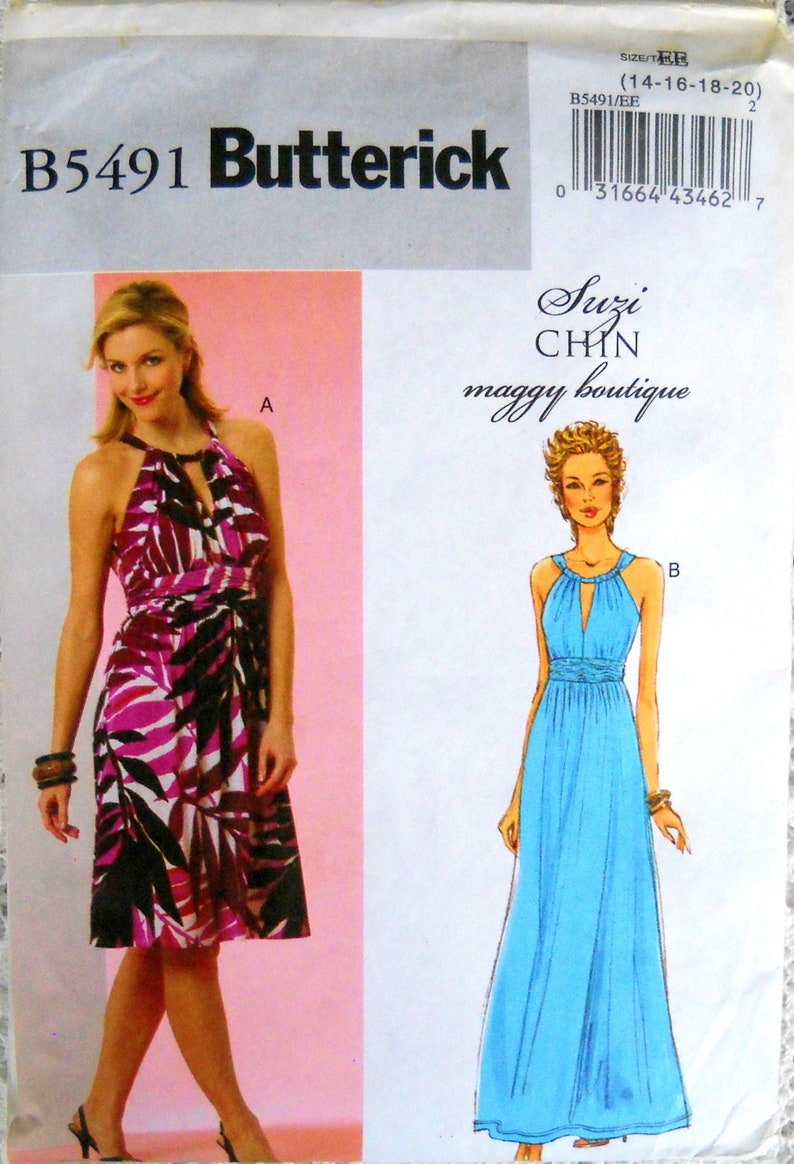 Butterick B5491 Misses Dress Pattern Size 14 16 18 20 image 0