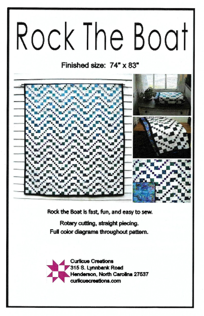 Rock the Boat Waterfall Version Quilt Pattern by Curlicue image 0