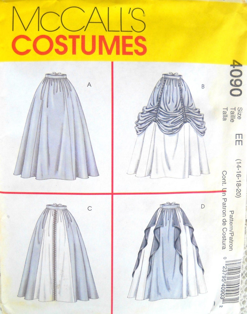 McCall's Costumes 4090 Misses Renaissance Skirts Pattern image 0