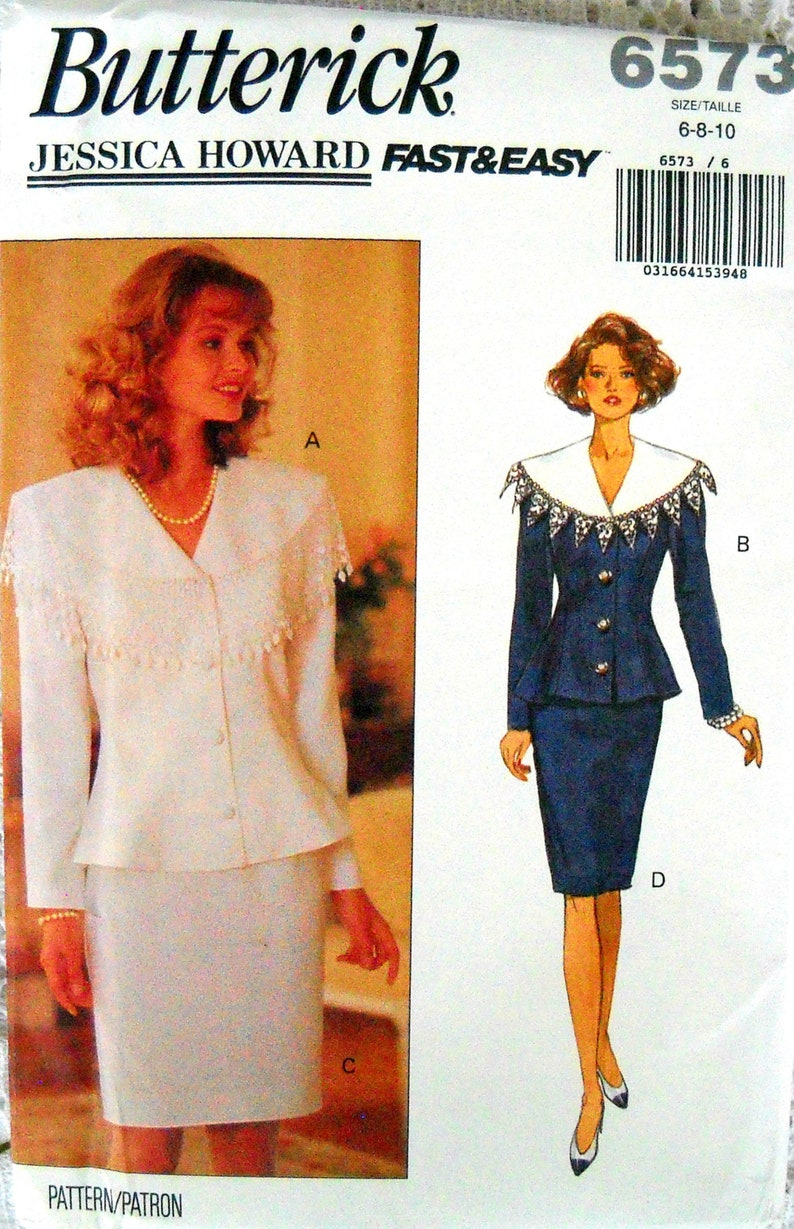 Butterick 6573 Misses Top and Skirt Pattern Size 6 8 10 image 0