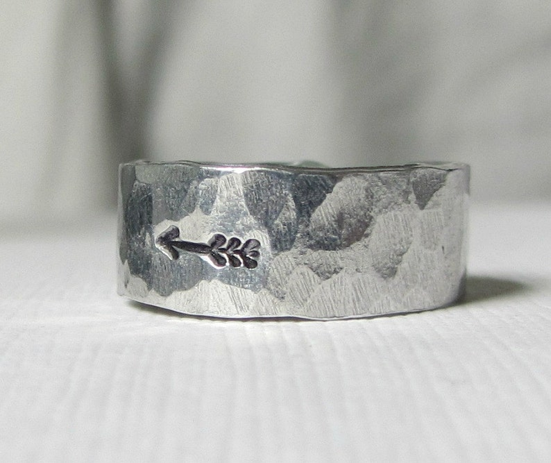 Arrow Ring Hammered Sterling Silver-