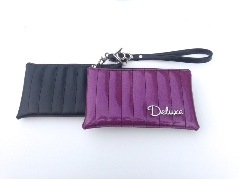 V8 Hot Rod Wristlet Metal Flake Purple & Black with Deluxe image 0