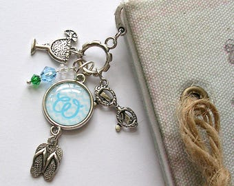 Beach  Charm Bookmark – Personalized Bookmark – Metal Bookmark – Initial Book Mark – Book Gift – Beach Bookmark – Personalized Gift