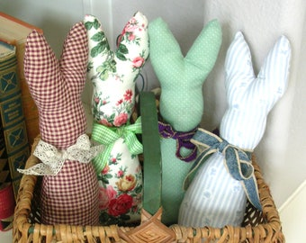 Stuffed Bunny Rabbit - Easter Basket Filler - Spring Decor - Primitive Bunny - Easter Rabbit - Primitive Home Decor Rabbit - Country Decor -