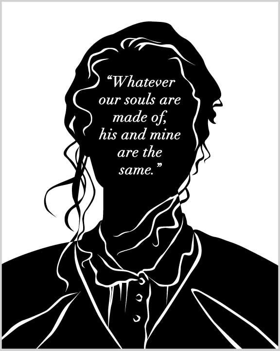 Wuthering Heights Quotes Enchanting Literary Art Print Wuthering Heights Catherine Quote Etsy