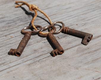 Lot of Three Antique Skeleton Keys