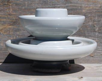 Large Ceramic Insulator, Chance 1975 Insulator, Vintage White Ceramic Insulator, Vintage Home Decor