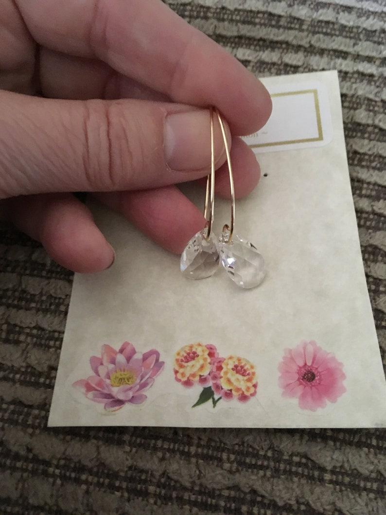Crystal Drop Earrings Bridal Earrings image 0