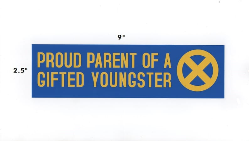 Proud Parent of a Gifted Youngster sticker  x-men decal geek image 0