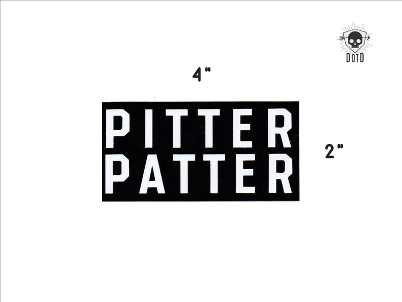 Pitter Patter  letterkenney sticker opaque decal fun fandom image 0