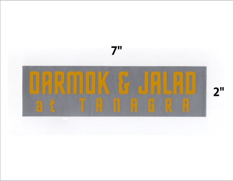 Darmok and Jalad sticker  Star Trek TNG decal geek gift image 0