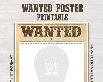 Wanted poster etsy wanted poster printable sign 11 x 8 instant download wanted sign prop maxwellsz