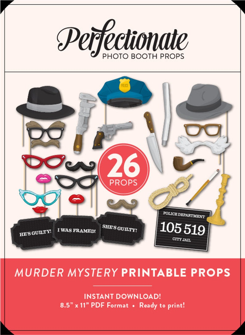 photo relating to Printable Props known as Printable Murder Top secret Props 26 Murder Secret Printables Roaring 20s Props Mugshot Indication Quick Obtain