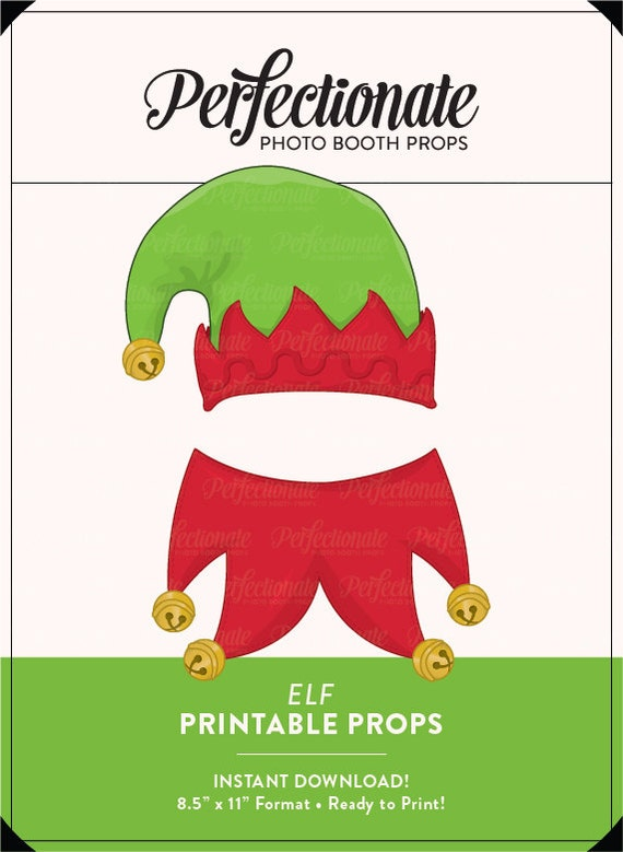 graphic regarding Elf Hat Printable known as Elf Props Elf Hat and Collar Props Xmas Printable Props Quick Obtain