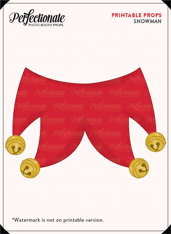 photograph regarding Elf Hat Printable named Elf Props Elf Hat and Collar Props Xmas Printable Props Instantaneous Down load