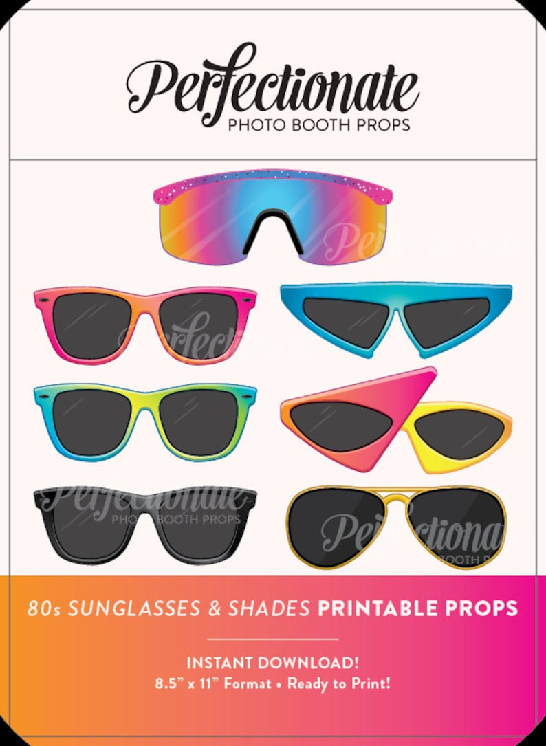photo regarding Printable Sunglasses known as Printable 80s Sungles Photograph Booth Prop Printable 80s Props Immediate Down load 80s Photograph-Booth Gles