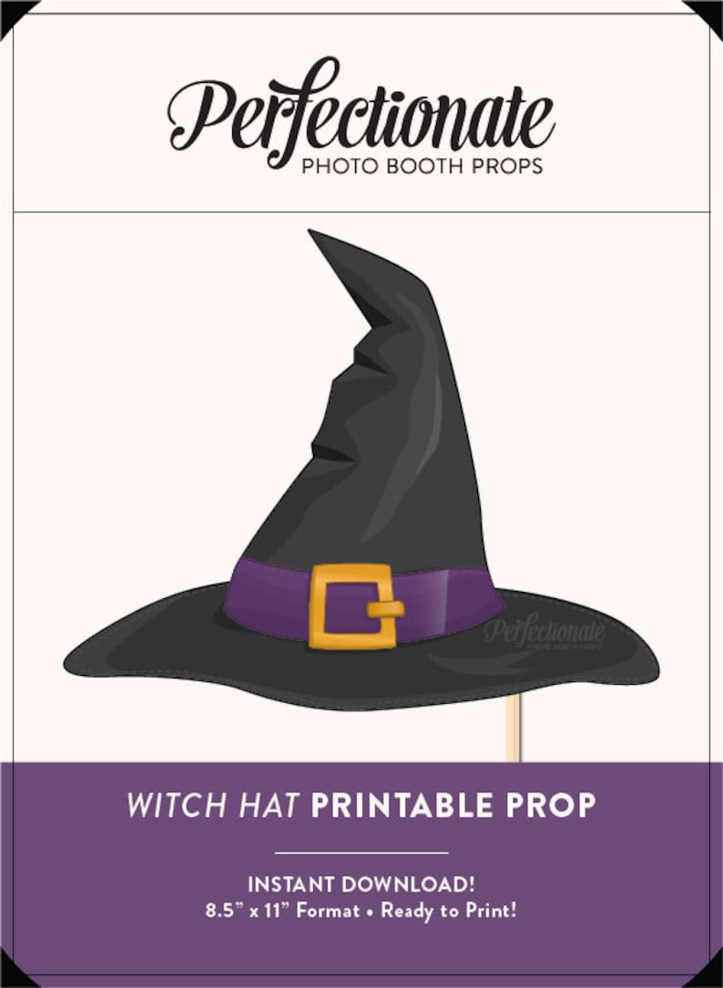 photograph regarding Witch Hat Printable titled Printable Witch Hat Prop Halloween Printable Prop Do it yourself Props Immediate Obtain Picture-Booth Clipart