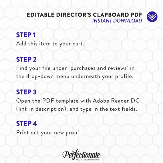 directors clapboard template instant download editable etsy