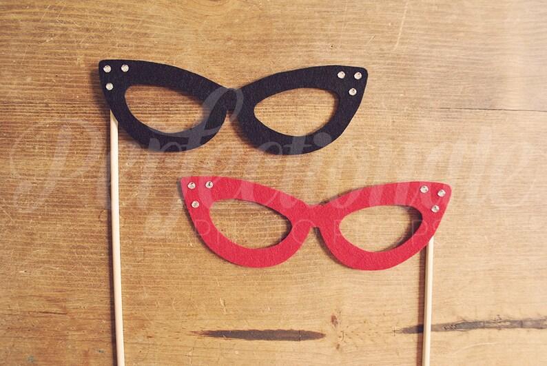 93da3ecfce 2 Cat-Eye Glasses With Rhinestones Cat Eye Glasses Props 1
