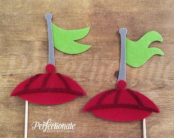 2 Propeller Hat Props | Tweedledee and Tweedledum Props | Wonderland Props | Tea Party Prop | Alice in Wonderland Photo-Booth