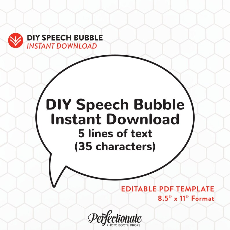 graphic relating to Printable Speech Bubbles identify Speech Bubble Editable Prompt Obtain Editable Speech Bubble Template  Printable Speech Bubble PDF Prompt Obtain