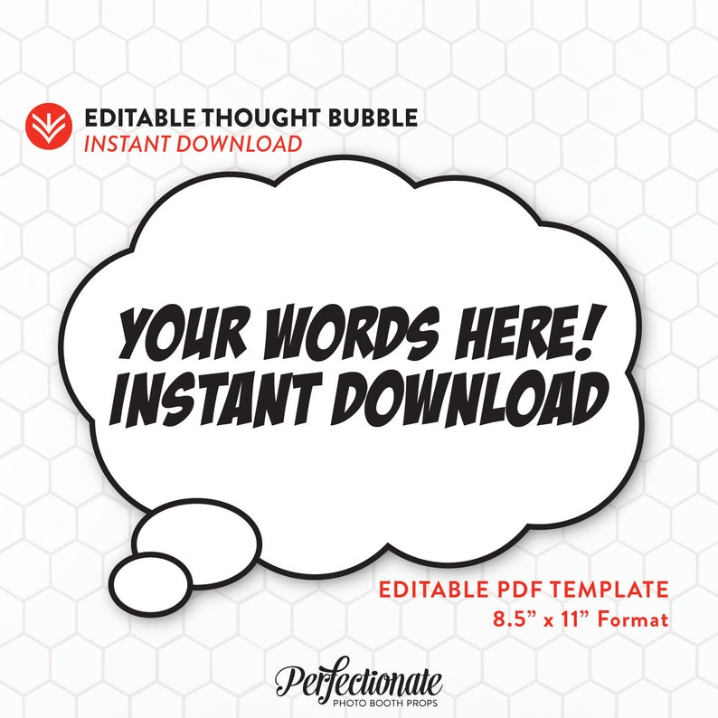 image about Printable Thought Bubbles referred to as Do-it-yourself Comedian Ebook Thing to consider Bubble 1 Editable Concept Bubble Speech Bubble Template Fast Obtain