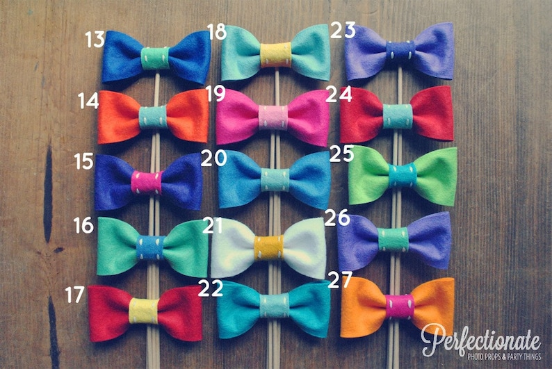 4 Bow Tie Props Bow Tie Photo Prop Choose 4 Bow Props