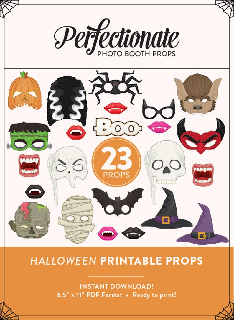 picture about Halloween Photo Booth Props Printable known as Printable Halloween Image Booth Props 23 Printable Halloween Props  Immediate Obtain