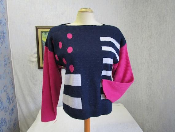 80s L Diane Von Furstenberg Acrylic Pullover Cropp
