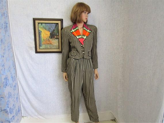 90s S Dorothy Schoelen Platinum Petites Pant Suit