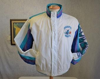 80s XS Charlotte Hornets Basketball Starter Jacket NBA Licenced