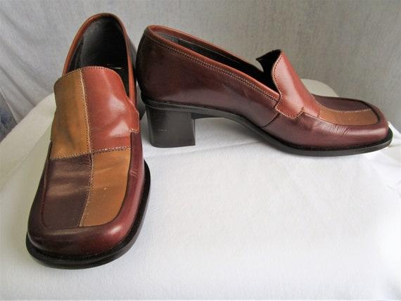 90s 6 B 36 Bravo Browns Leather Womens Slip On Loa
