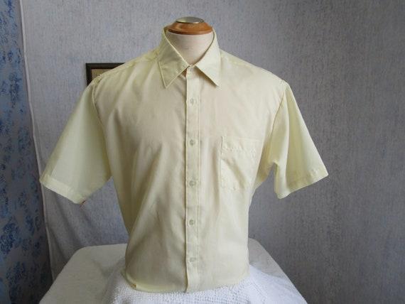 Botany 500 Mens White Button Up Short Sleeve Polo Dress Shirt Size 17 NEW
