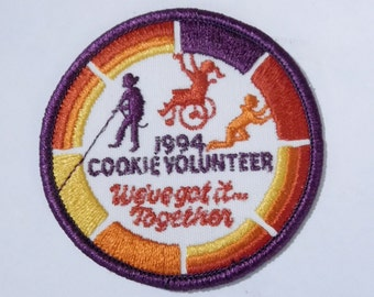 Girl Scout Embroidered Patch - 1994 Cookie Volunteer ~ We've Got It Together