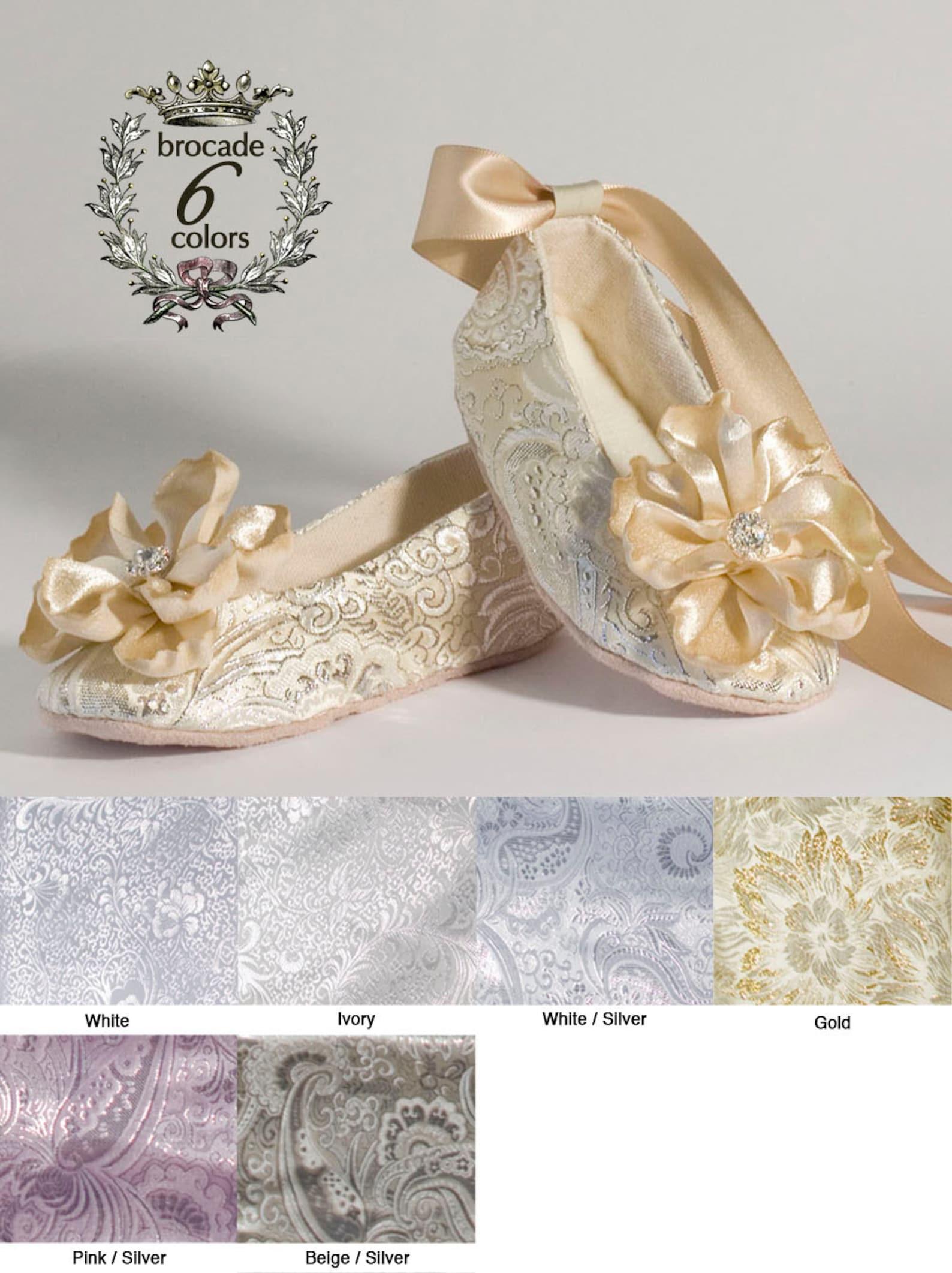 champagne ballet slipper, beige toddler flower girl shoe, also gold, ivory, white, pink, christening, little girl shoe, baby sou