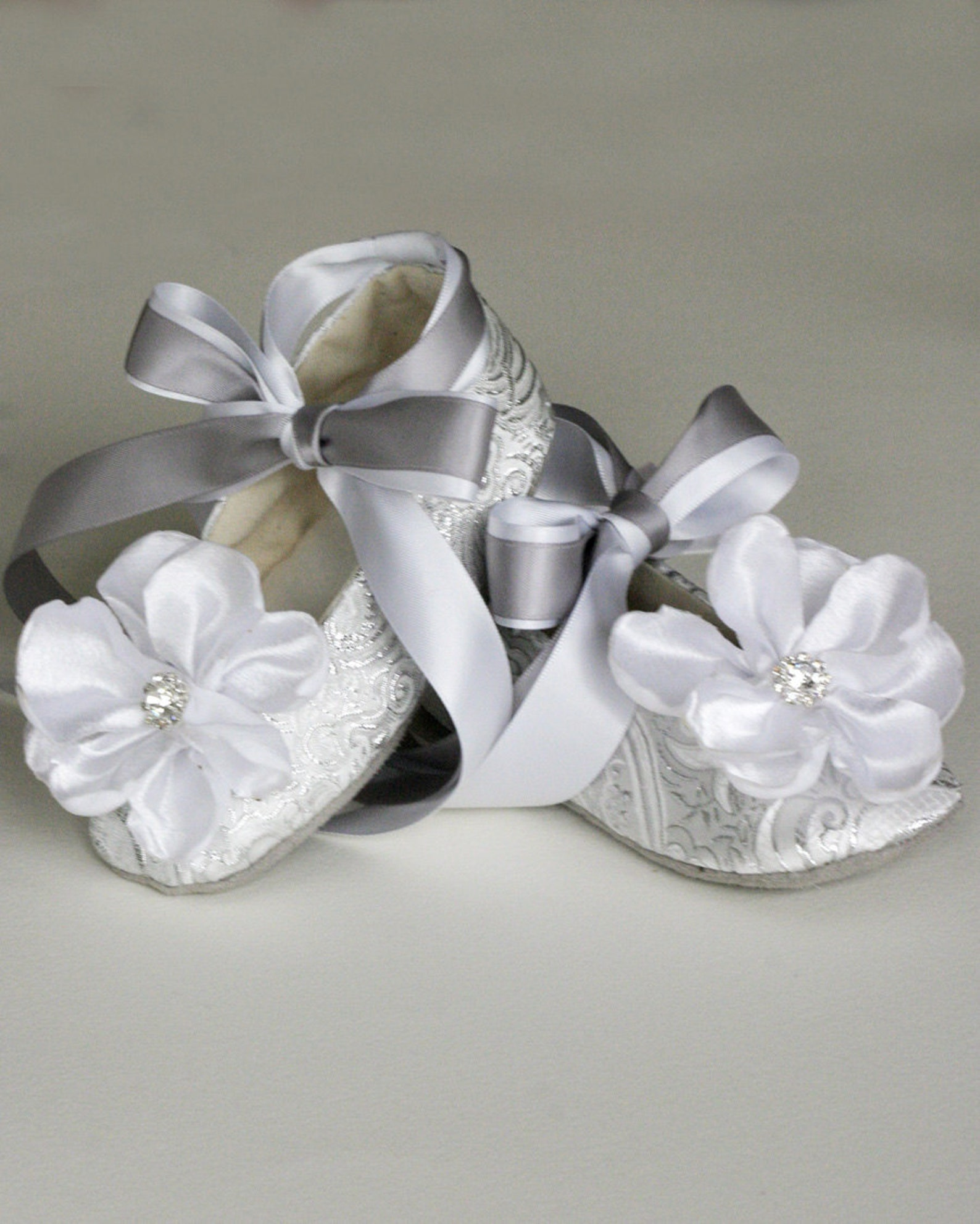 ivory brocade toddler flower girl shoe - flower girl, wedding ballet slipper - ivory, gold, silver, white available - baby souls