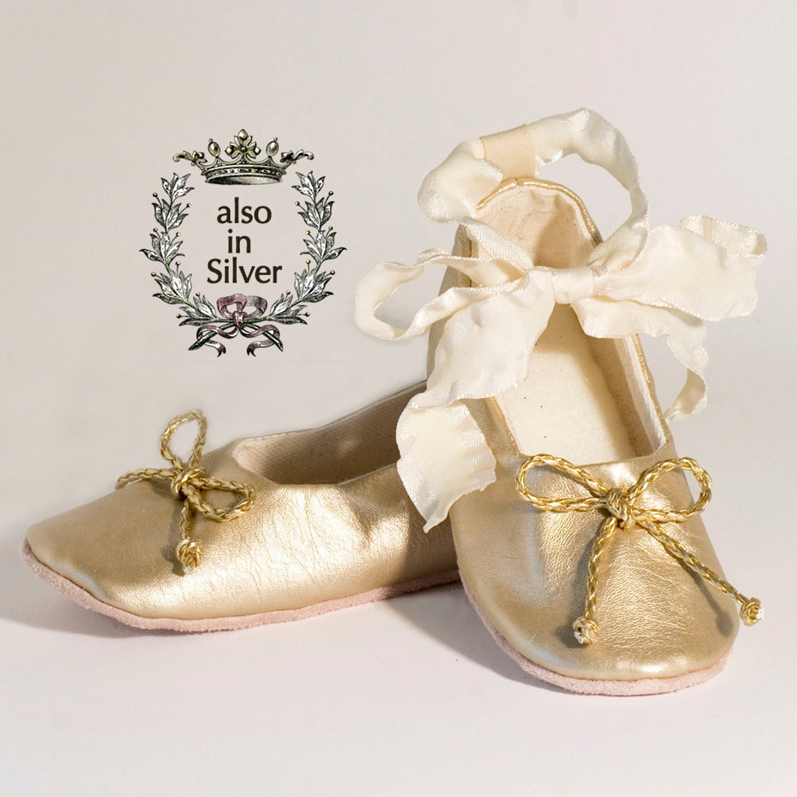 gold baby shoe, toddler ballet slipper, gold flower girl shoe, ballet flat, gold christmas shoe, little girl shoe, holiday, baby
