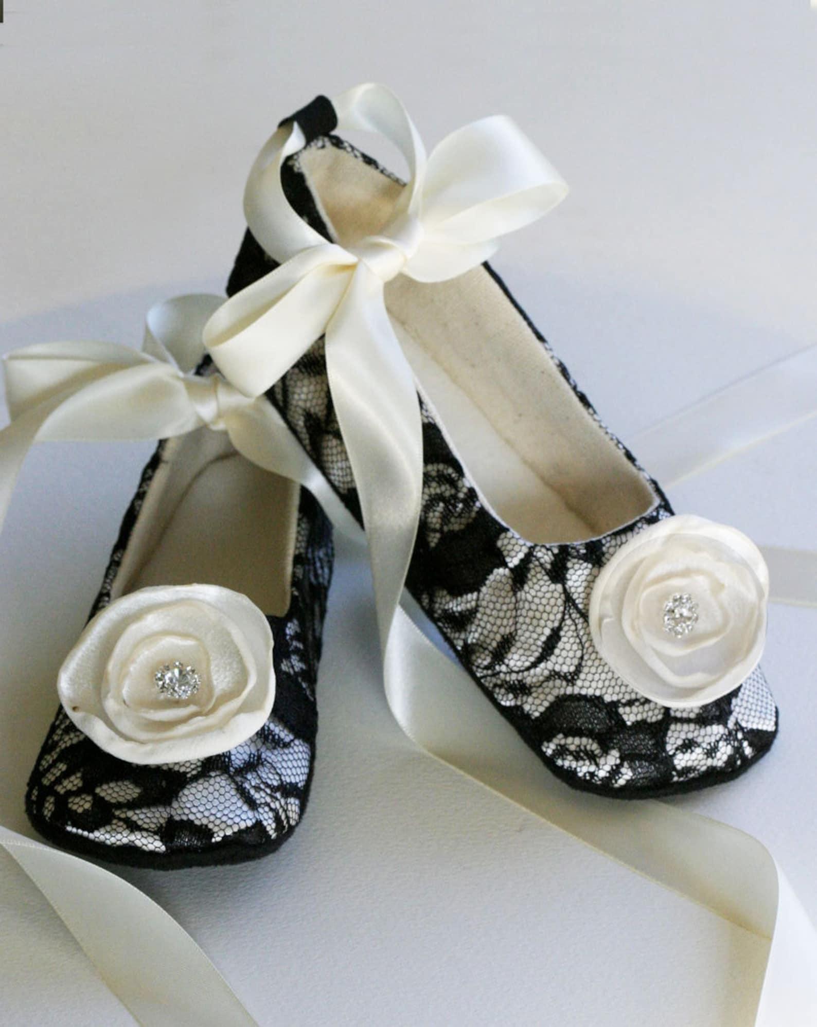 black lace toddler shoes, more colors, baby flower girl ballet slipper, wedding ballet flat, girls easter, dance shoe, baby soul