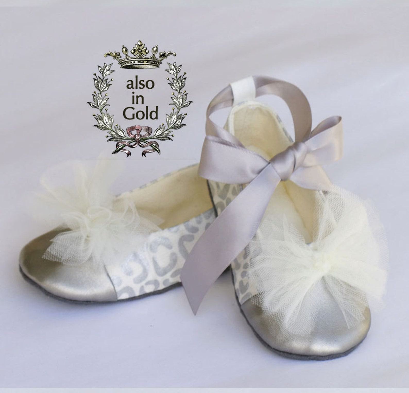 christmas silver toddler ballet slipper, leopard, holiday baby ballet flat, gold wedding shoe, dance shoe,baby souls baby shoe