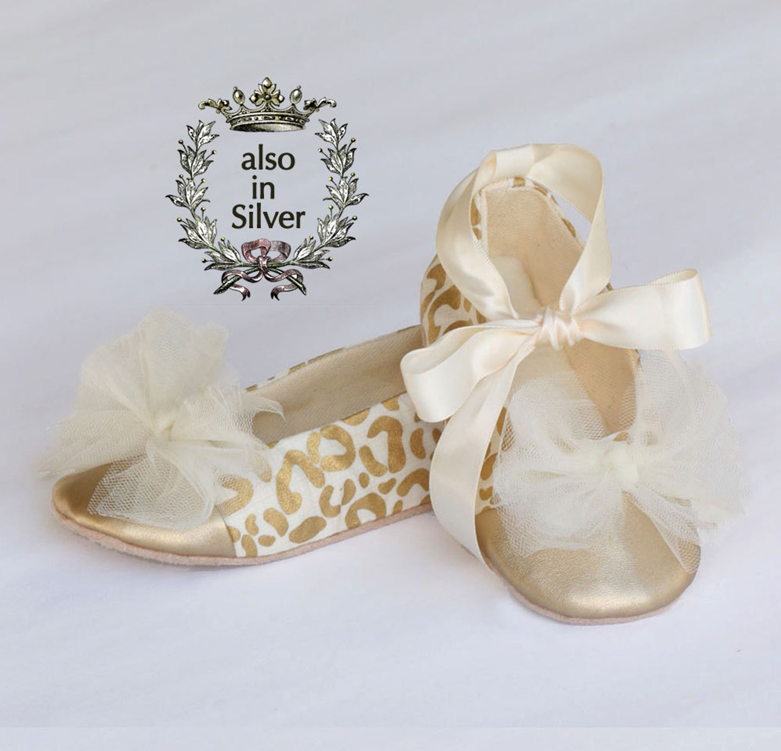 easter gold baby shoe, gold toddler ballet slipper, animal leopard print, little girls wedding shoe, holiday baby shoe, baby sou