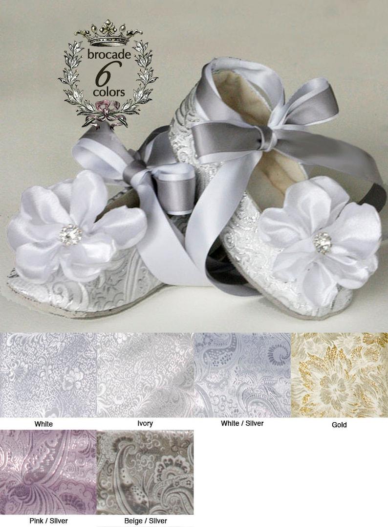 4ddcc346053 Silver Baby Ballet Slipper Toddler Flower Girl Shoe in Gold