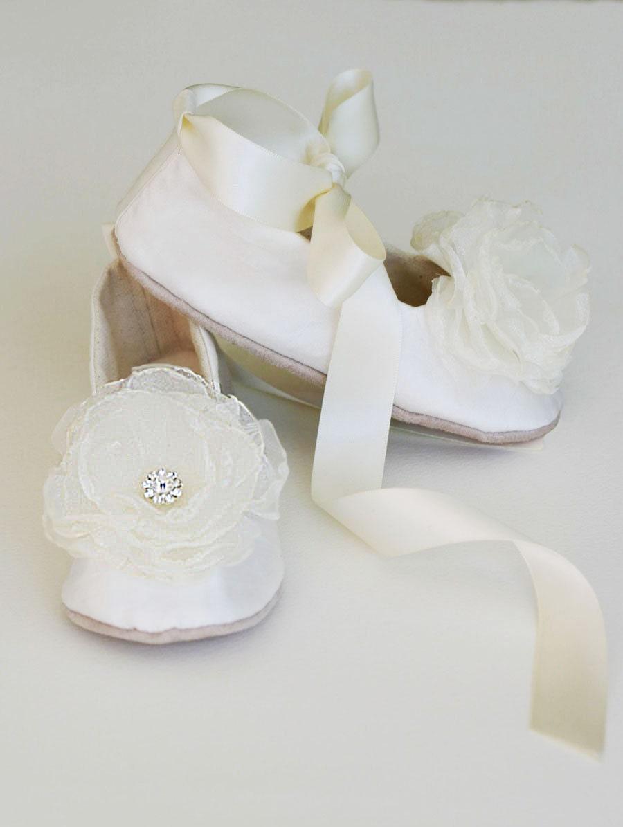 Ivory Silk Toddler Shoe Little Girls Wedding Shoe Easter Etsy
